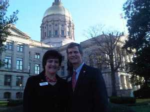Dr and Mrs Watson at the Atlanta State Capitol