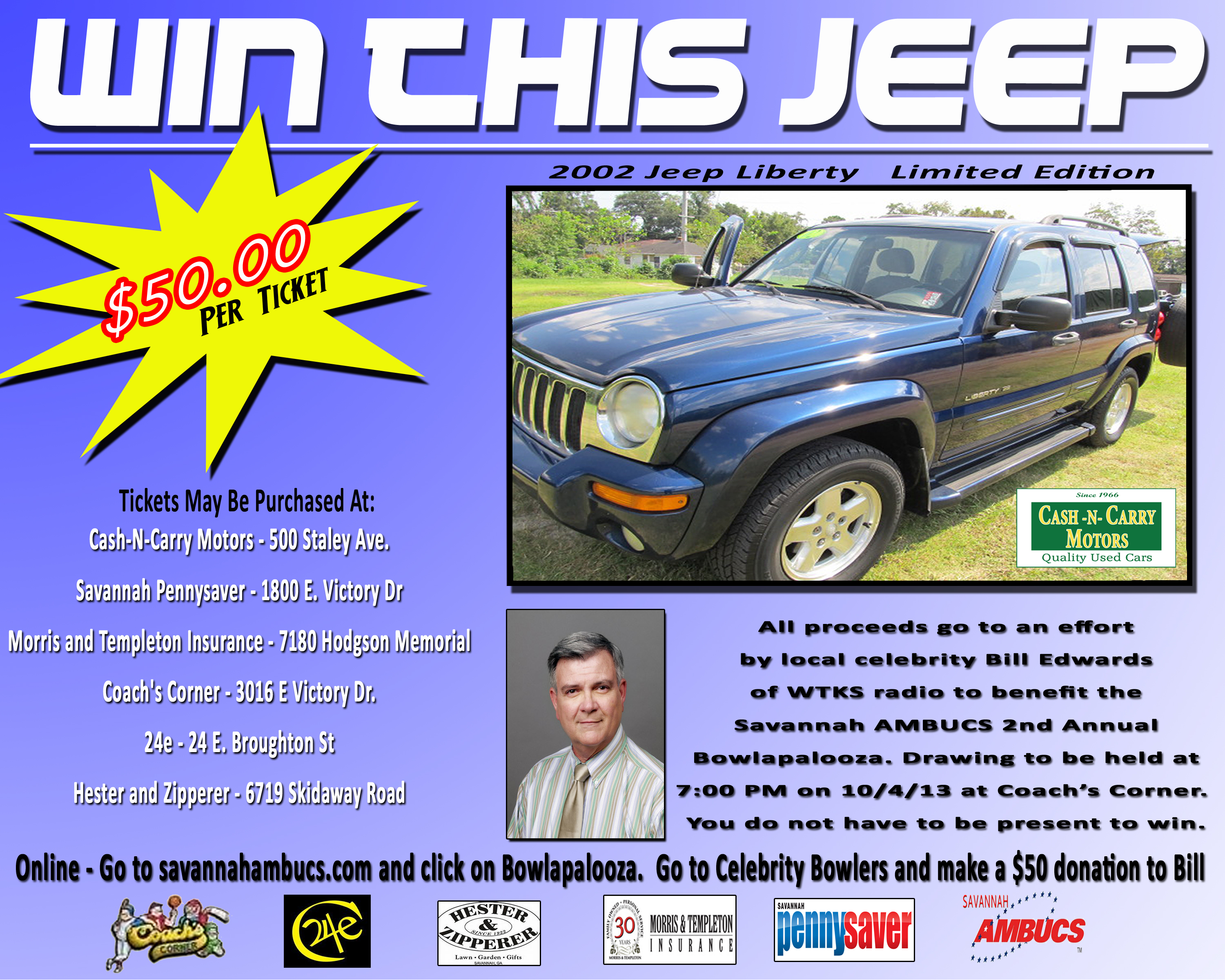 $50 Raffle for a Used Car from Cash-N-Carry Motors – helps local ...