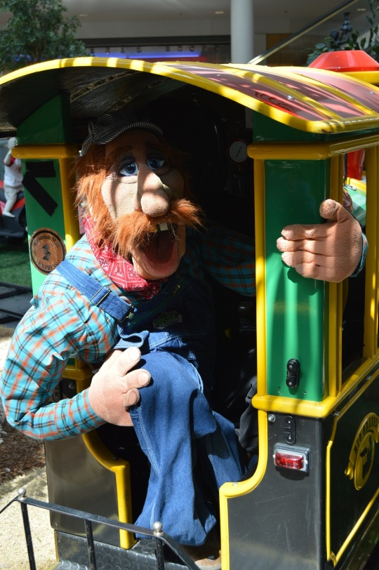 A conductor from Puppet People gives free rides to children and adults in celebration of the choo-choo retiring after 20 years of service.