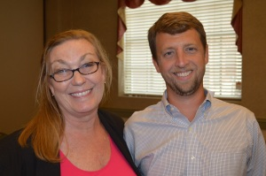Stacy Jennings, Marketing Director at Savannah Morning News, and Matt Clements, Director of Marketing at Enmark Stations