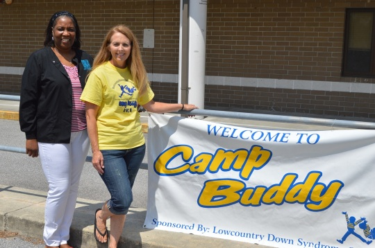 Lori Watkins, Certified Medical Assistant at Low Country Dermatology, and Pam Hussey, LDSS Camp Buddy Director