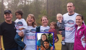 The Freeman family at the 2013 race. Brother-in-law Mike Macias pictured below due to deployment.