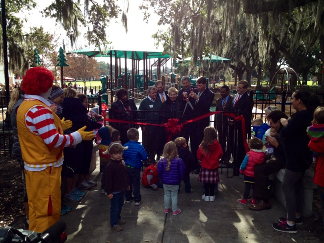 Savannah Rotary cuts the ribbon on all-inclusive playground Monday, December 8, 2014
