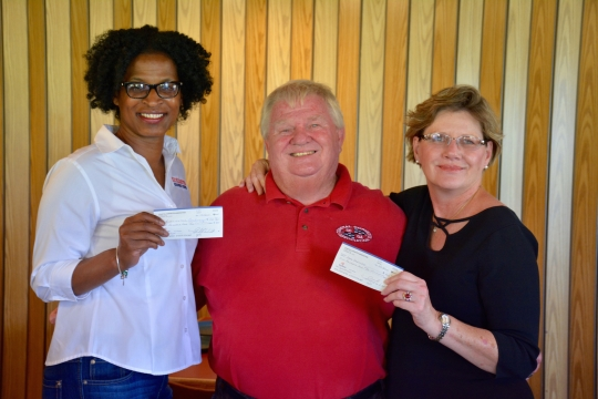 (L to R) Stacey Davis, Kicklighter Resource Center; Mike Goodling, Coastal Corvette Association; Cheryl Branch, SAFE Shelter