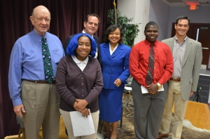 (LEFT TO RIGHT) Howard Morrison, Maya Jackson, David Klugh, Dawn Baker, Kristopher Bonds and Gary Sanchez