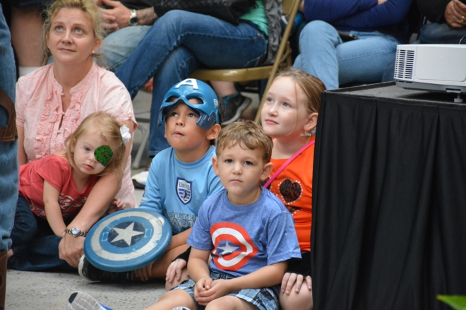 Capt America speaks out against bullying at the Savannah Mall