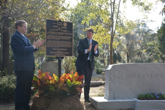 Savannah Rotary Unveils Marker in Honor of Founder_2755