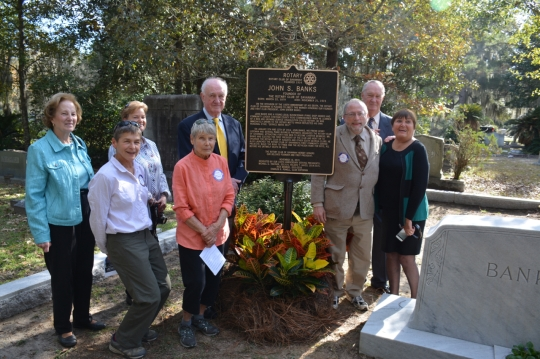 Savannah Rotary Unveils Marker in Honor of Founder_2758