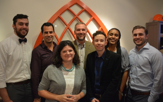 The team of Felder  Associates celebrate three years. %28LEFT to RIGHT%29 Michael Johnston%2C Andy Resende%2C Gretchen Callejas%2C Brian Felder%2C  Matthew Frankel%2C Natalie Jones and Ryan Claus.