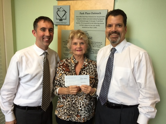 Bank of America Donation to Park Place Outreach %28LEFT TO RIGHT%29 Todd Cellini%2C Linda Hilts and Chris Sotus.jpg