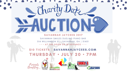 2017 Savannah Jaycees banner for fourth annual Charity Date Night Auction
