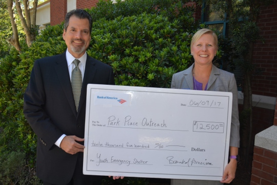 Park Place Outreach Youth Emergency Shelter Savannah Receives Grant